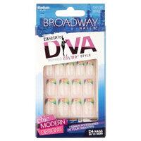 Kiss Broadway nails divine fast french flawless fit salon design medium # BFA02