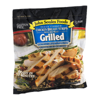 John Soules Foods Fully Cooked Chicken Breast Strips Grilled