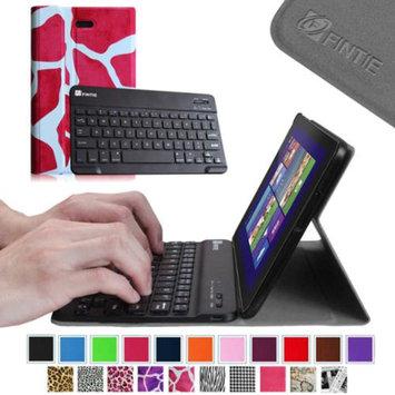 Fintie SlimShell Case Wireless Bluetooth Keyboard Cover for Dell Venue 8 Pro Windows 8.1 Tablet, Giraffe Magenta