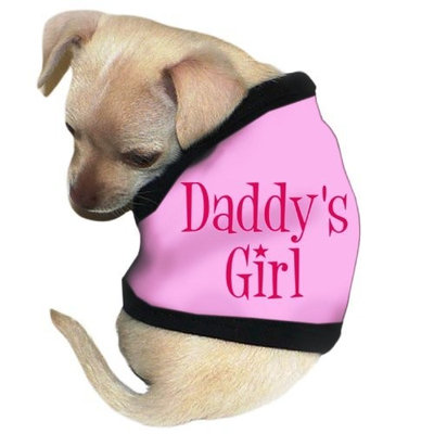 Pet Tease Daddy's Girl Dog Tank, Pink