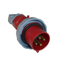 Thomas & Betts ABB Russelstoll ABB430P7W IEC Plug 30A 3 Pole 4 Wire 480V 3 Phase Pin & Sleeve