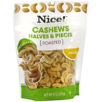 Nice! Cashew Halves & Pieces, Unsalted, 8 oz