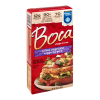 Boca Veggie Burgers Grilled Vegetable - 4 CT