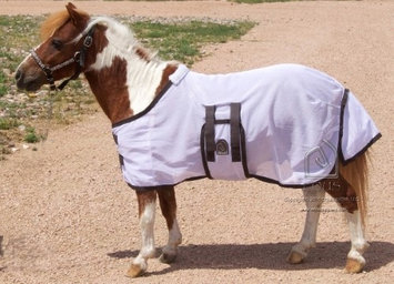 EOUS Foal/Mini Fly Sheet Small White/Chocolate