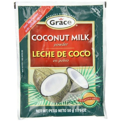 Grace Cocconut Milk Powder Envelope, 1.76-Ounce (50g) (Pack of 12)