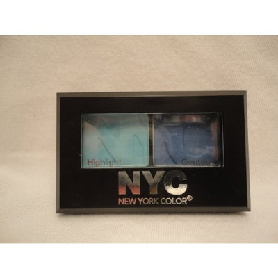 N.Y.C. York Color (NYC), City Duet Eyeshadow, Yankee Blues (813B), Net Wt. .07 Oz.