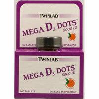 Twinlab Mega D3 Dots Tangerine 5000 IU 100 Tablets
