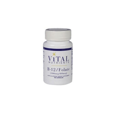 Vital Nutrients B 12 and Folate 100 Count