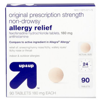 up & up Non Drowsy Allergy Relief 180 mg Fexofenadine Tablets