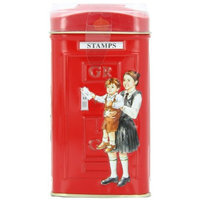 Ahmad Tea London Telephone Box Tin, English Breakfast, 25-Count Tin (Pack of 4)