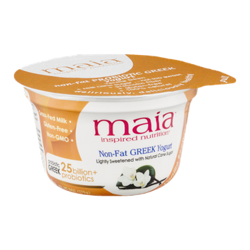 Maia Inspired Nutrition Non-Fat Greek Yogurt Vanilla Bean