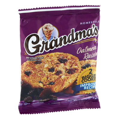 Grandma's Brand Homestyle Oatmeal Raisin Cookies - 2 CT
