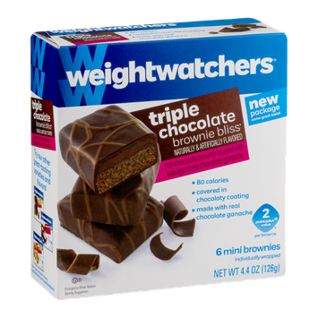 Weight Watchers Brownie Bliss Mini Brownies Triple Chocolate - 6 CT