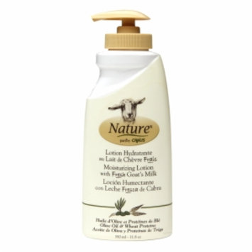 Nature by Canus Moisturizing Lotion with Fresh Goat's Milk, Olive Oil & Wheat Proteins, 11.8 oz