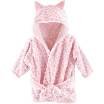 Baby Vision Hudson Baby Girls Leopard Plush Bath Robe