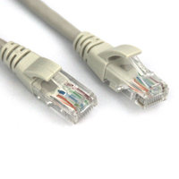 VCOM Cat6e Molded Patch 3' Cable, Gray