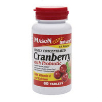Mason Natural Highly Concentrated Cranberry with Probiotic