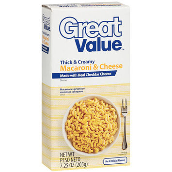 Great Value Thick & Creamy Macaroni & Cheese Dinner Mix, 7.25 oz
