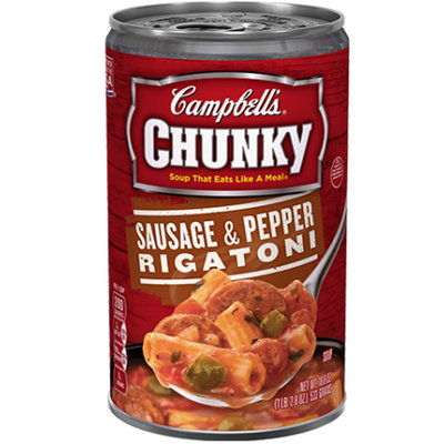 Campbell's® Chunky™ Sausage & Pepper Rigatoni Soup