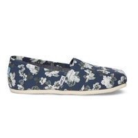 Toms Navy and Grey Floral Women's Classics