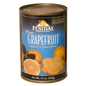 Festival White Grapefruit Segments in Natural Juice, 15-Ounce Can (Pack of 12)