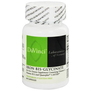 DaVinci Laboratories - Iron Bis-Glycinate - 60 Vegetarian Capsules