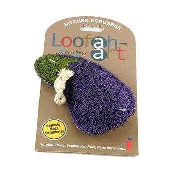 Loofah Art Loofah-Art Eggplant Natural Loofah Scrubber, 1-Item