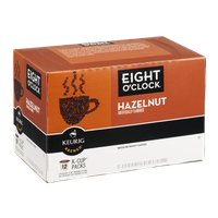 Eight O'Clock Keurig Brewed Coffee Hazelnut Medium Roast - 12 CT