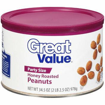 Great Value Honey Roasted Peanuts 33 Oz
