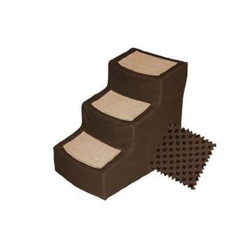 Pet Gear Chocolate Designer 3 Step Stair with Removable Cover