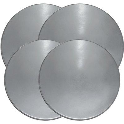 Range Kleen 4-Piece Burner Kover Set, Round, Stainless Steel