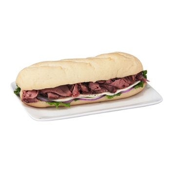 Chef Express Boar's Head Deluxe Roast Beef with Lacey Swiss Submarine Sandwich