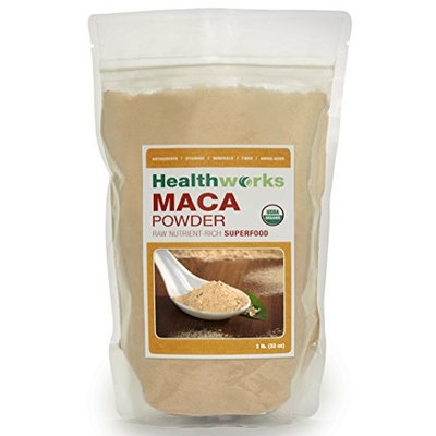 Alive And Aware Natural Health Healthworks Raw Certified Organic Maca Powder 2 Pounds