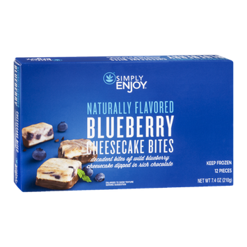 Ahold Simply Enjoy Cheesecake Bites Blueberry - 12 CT