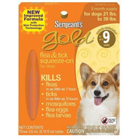 Sergeant's Pet Sergeant's 21-39-Pound Gold Flea and Tick Squeeze-On Dog