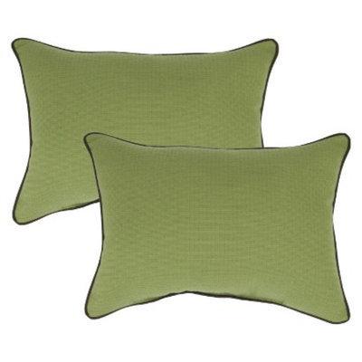 Smith & Hawken 2-Piece Outdoor Lumbar Pillow Set - Pistachio