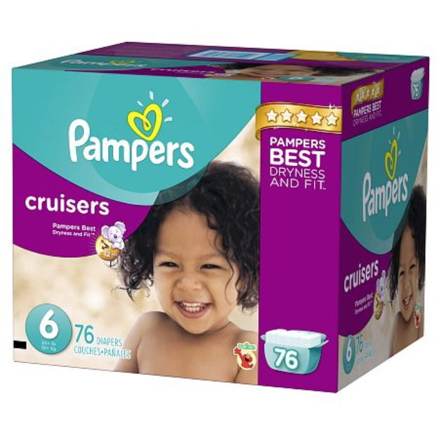 Pampers Cruisers Diapers Giant Pack - Size 6 (76 Count)