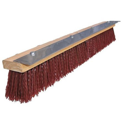 TOUGH GUY 10H933 Push Broom, Maroon Plastic,24 In. OAL