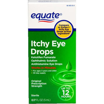 Equate Itchy Eye Drops Compare to Zyrtec Itchy Eye