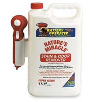 Natures Miracle Stain and Odor Remover Power Sprayer 192 ounce.