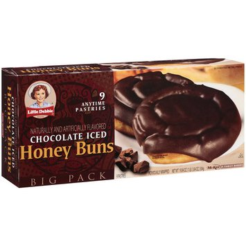 Little Debbie Snacks Big Pack Chocolate Iced Honey Buns, 9ct