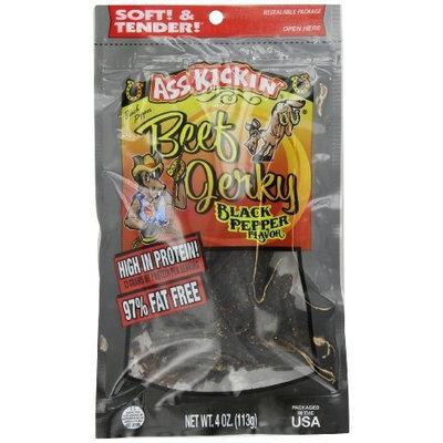 Ass Kickin' Beef Jerky Black Pepper, 4-Ounce Bags (Pack of 6)