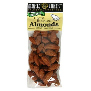 Maisie Jane's Organic Oven Roasted Almonds, 1.25-Ounce Snack Packs (Pack of 12)