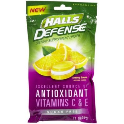 HALLS Defense Sugar Free Supplement Drops Creamy Lemon