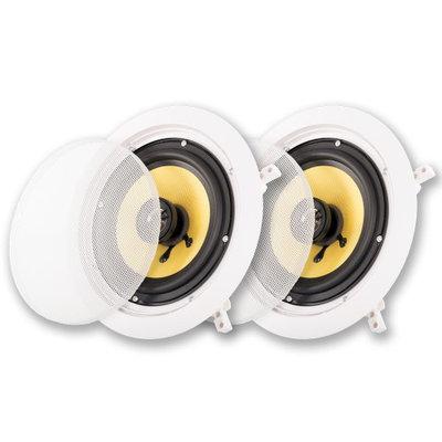 Acoustic Audio HD6 600 Watt Pair of In-Wall In-Ceiling Home Theater Speakers