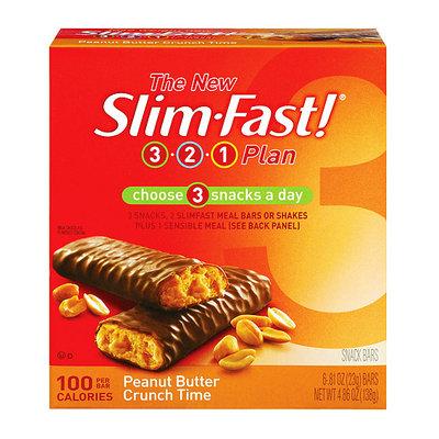 SlimFast 3.2.1 Plan Peanut Butter Crunch Time Snacks Bar