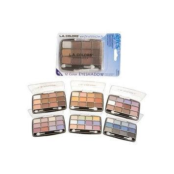 LA Colors L.A. Colors Expressions, 12 Color Eyeshadow, BEP422 Glamorous, 0.49 Oz