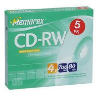 Memorex 80-Min. 5-pk. CD-RW Slim Disc Pack