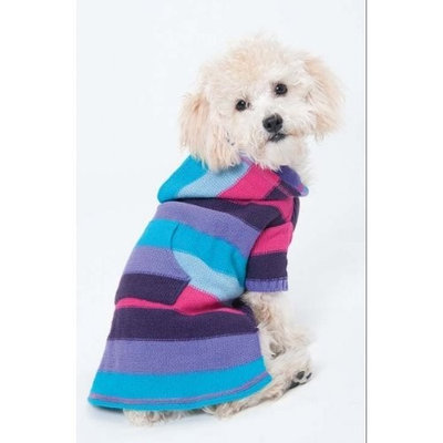 Fashion Pet (Ethical) DFH576PMD Stripe to Stripe Dog Dress, Medium, Pink