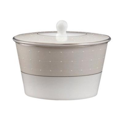 Monique Lhuillier Waterford Dinnerware, Etoile Platinum Covered Sugar Bowl